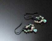 SALE: Ethiopian Fire Opal, Sterling Silver Earrings