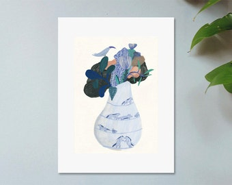Illustration, Poster, Digital art print on paper, Bouquet