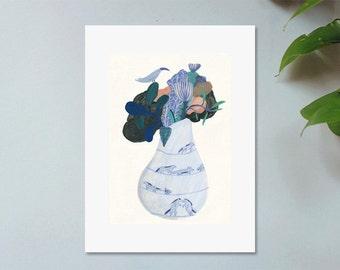 Illustration, Affiche, Impression sur papier, Bouquet