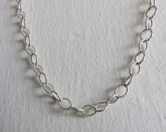 Finished Sparkle Necklace - Designed Textured Chain