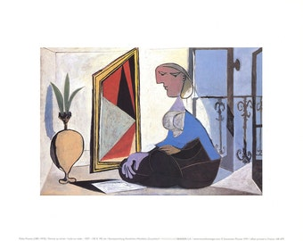 Pablo Picasso-Woman at the Mirror-1997 Poster
