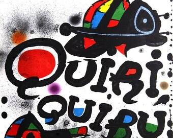 Joan Miro-Quiriquibu-1976 Lithograph