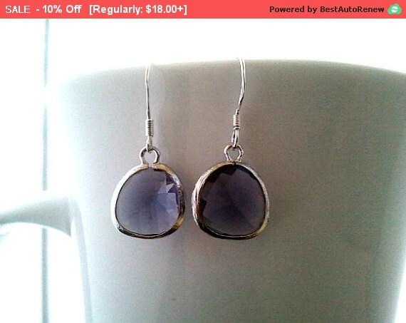 Purple Earrings, Amethyst Purple Drop Earrings, Dangle earrings, wedding Earrings,Bridemade Gift