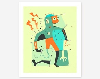 FRANKENSTEIN's MONSTER, Giclée Fine Art Print, Pop Art by Jazzberry Blue