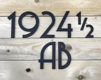 5 inch Art Deco House Numbers Letters