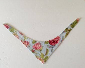 "Dog Bandana, Floral Dog Bandana, Female Dog Bandana, Fits 8"" to 10"" Neck, Ready to Ship,  Dog Clothes, Dog Accessories, Dog Items"