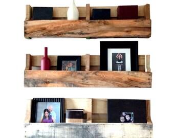 Reclaimed Pallet Shelves Set of 3