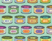 Tabby Road - Tula Pink - Cat Snacks - Blue Bird