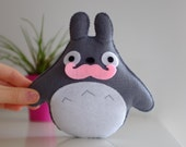 Pink Moustache Totoro