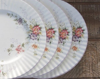 Mikasa Park Lane Dessert Plates Set of 4 Salad Plates Classic Elegance, Tea Party, Replacement China, Cottage Chic, Shabby Chic