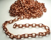 9-1/2 feet - Copper tone brass oval double link chain - brc1
