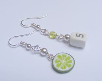 Food Jewelry Salt and Lime  Earrings, Tequila Jewelry, Miniature Food Earrings, Food Jewellery Mini Food Jewelry Parrothead Tequila earrings