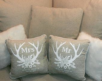 Custom Mr. And Mrs. Throw Pillows