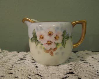Antique Nippon Porcelain Creamer Dogwood