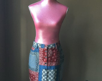 Country Patchwork Skirt by NY Line