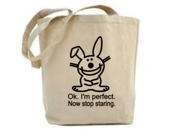 Rabbit Lover Bag, Rabbit Gift, Ok, I'm Perfect, Rabbit Gift, Rabbit Bag, Gift For Rabbit Lover, Tote Bag, Shopping Bag, Market Bag