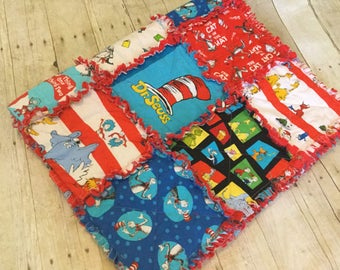 Custom Size Rag Quilt - Dr. Seuss