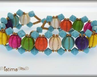 Gaudy Melon Bracelet - my own design. EBW