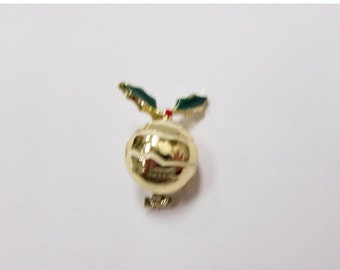 On Sale Vintage Enameled Christmas Ball Pin Item K # 17