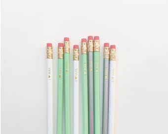 I Love Mail Pencils - set of 6 pencils - snail mail pencils - stationery gift - pastel pencils - pen pal gift - happy mail - wood pencils