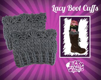 Lacy Boot Cuffs Crochet Pattern