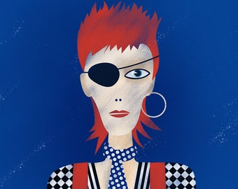 David Bowie - Rebel Rebel - Ziggy Stardust - giclee print