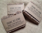 Vegan/Organic Red HENNA SHAMPOO BARS-condtions as it adds shine, very gentle-over 2.5 oz. bars will arrive in a muslin bag