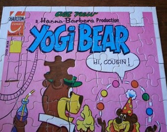 Yogi Bear comic book cover jigsaw puzzle, 70 pieces, Hanna Barbera