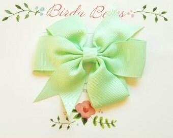 Mint Bow Clip, Baby Headbands, Infant Headbands, Baby Girl Headbands, Infant Bow, Baby Bow, Girl Bow,Girl Headbands