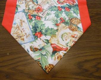 Holly, Fairies and Elves Table Runner - Holly Table Topper - Holly Table Linen - Christmas Table Decoration