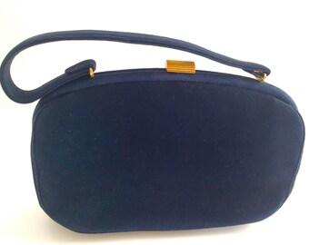 Koret Navy Blue Suede Handbag