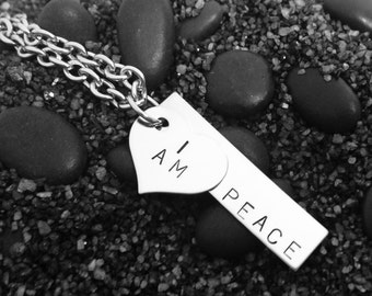 I AM PEACE stainless steel necklace