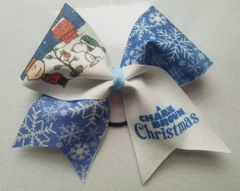 Charlie Brown Christmas Inspired cheer bow