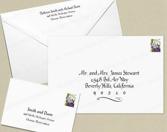 Custom Wedding Digital Calligraphy Envelope Addressing Printing-Calligraphy