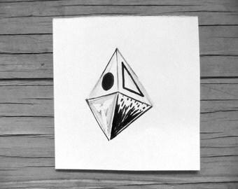 Abstract Drawings- ' 2 Hypnotizing Machines ' - 2 Drawing Set - Original Drawing