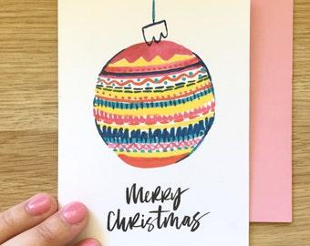 Merry Christmas Bauble - Christmas Card