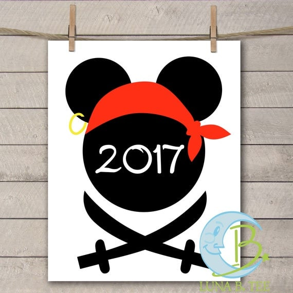 INSTANT DOWNLOAD Disney Family Vacation Cruise Sword Pirate Night 2017 Shirts Printable DIY Iron On to Tee T-Shirt Transfer - Digital File