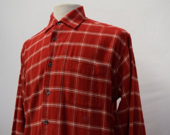 Tommy Hilfiger 1990s Checkered Flannel Shirt