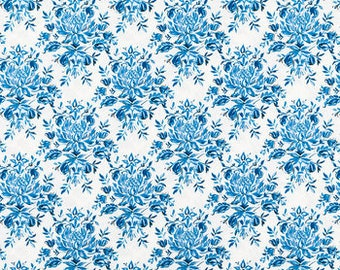 Blue and White Fabric- Cotton Fabric by the Yard-Quilt Fabric-Apparel Fabric-Home Decor Fabric-Fat Quarter-Craft Fabric-Fat Quarters