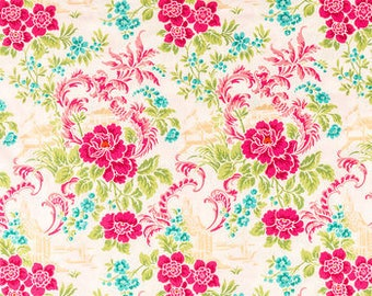 FABRIC-Hot Pink Floral by the Yard-Quilt Fabric-Apparel Fabric-Home Decor Fabric-Fat Quarter-Craft Fabric-Fat Quarters