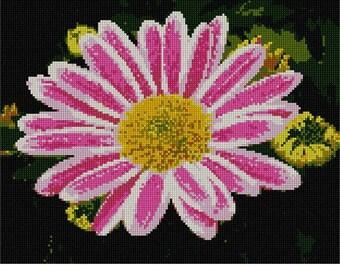 Needlepoint Kit or Canvas: Chrysanthemum