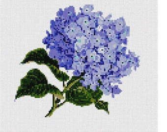 Needlepoint Kit or Canvas: Hydrangea Bunch