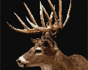 Needlepoint Kit or Canvas: Reindeer