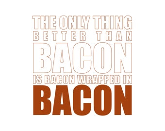 "10"" x 10"" Bacon Poster"