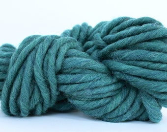 XL Wool Yarn 100% Wool Yarn Hand Knitting Wool Yarn  Super Bulky Roving Yarn Thyme Heather Yarn