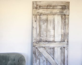 Shabby Chic White Barn Door, Rustic White Barn Door
