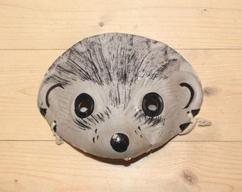 Hedgehog mask Soviet vintage kids mask RARE Vintage kids mask Cardboard mask Animal mask for kids Woodland kids mask Kids carnival mask