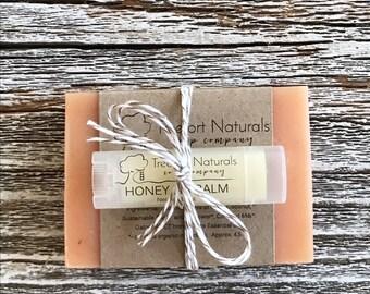 Soap + Lip Balm Gift Set, Valentine gift, Holiday gift, teacher gift