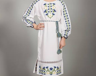 Vyshyvanka Ukraine dress, Ukrainian cross-stitch embroidered Stylish dress. Children's dress Вышитое платье крестиком, Ukrainian Dress girls