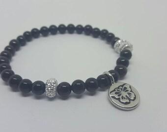 Black Onyx Butterfly Bracelet